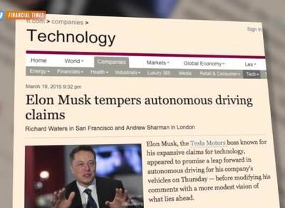 News video: Musk: Tesla Cars Could Have Autopilot By Summer