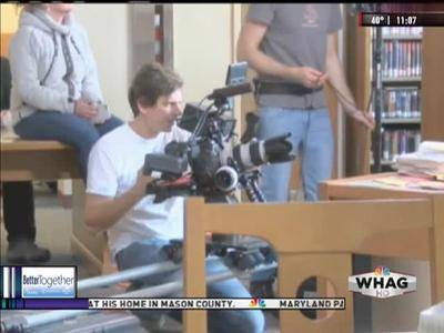 News video: FRED CO LIBRARY FILMING, KAYLA